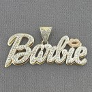 10kt Gold Personalized Nicki Minaj Barbie Name Pendant Necklace ND62