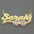 Personalized Name Necklace Double Plate Pendant Jewelry ND23