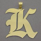 10kt Gold Old English Initial Pendant GI52