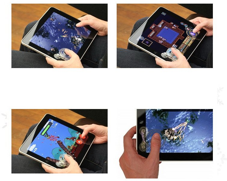 Fling game joystick for iPad