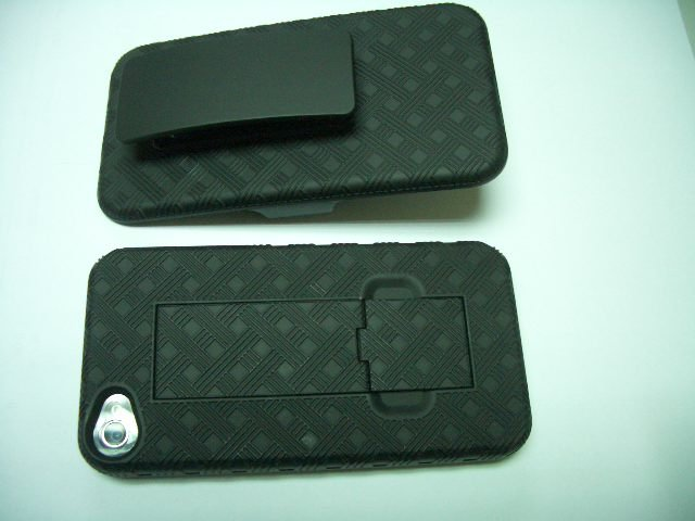 Multifunction case for iPhone 4 with stand clip