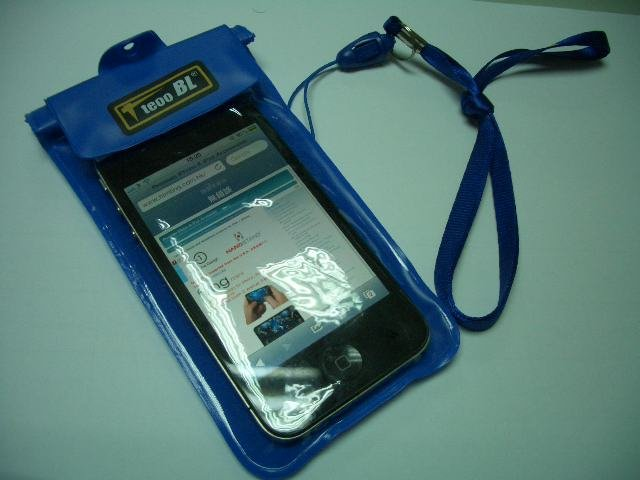 waterproof bag + stylus with ballpen for iPhone