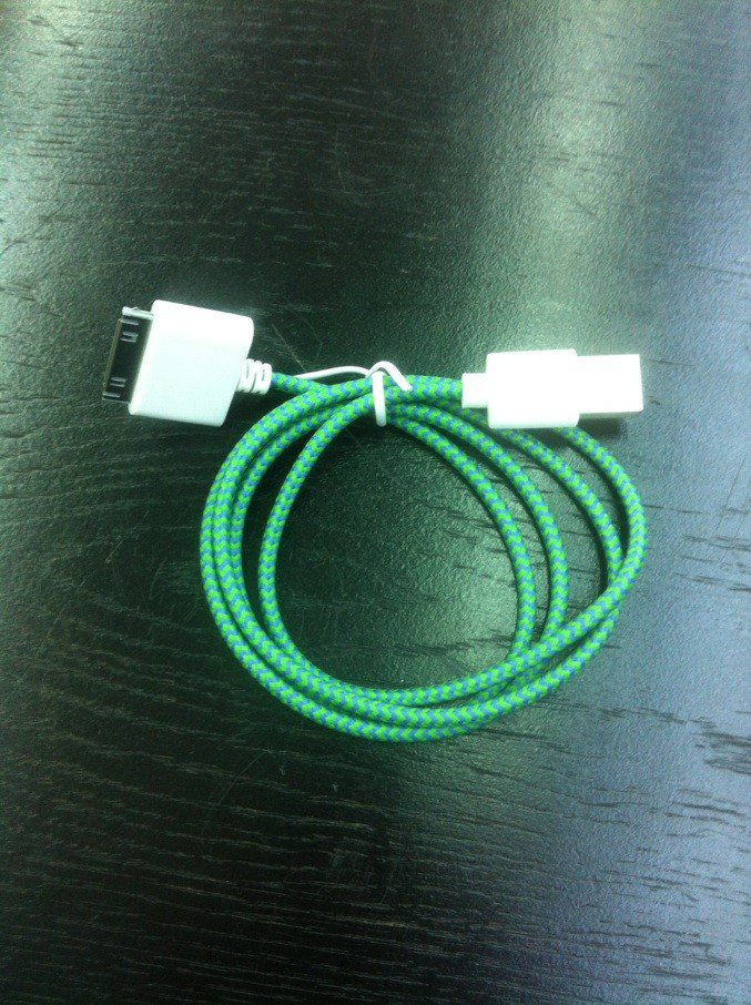 woven USB cable for iPhone 4 and 4S