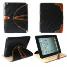 For new iPad and iPad 2 leather case with rotete