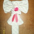 Layette/Receiving Blanket Angel w/Pink, Green & Brown Plaid