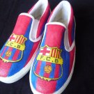 FC Barcelona Hand Painted Shoes (Unisex slip on)
