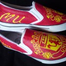 Manchester United Hand Painted Shoes (Unisex slip on)