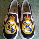 Real Madrid FC Hand Painted Shoes (Unisex slip on)