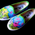 Spongebob Squarepants Airbrushed Shoes (women's slip on)