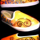 Personalized Cutee Orange Airbrushed Shoes (women's slip on)