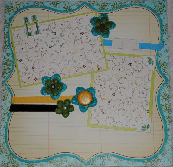 Notebook with Flowers