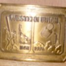 Western Union Brass Belt Buckle