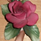 Capodimonte Red Rose with Buds Flower