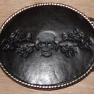 Leather & Metal Dead Skull Belt Buckle