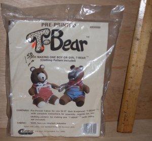 Vintage T Bear Teddy bear Pattern by Raymar