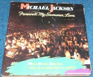 Michael Jackson, Farewell My Summer Love, Poster,  LP Vinyl Album 1984