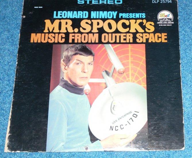 Star Trek, Mr Spock, Leonard Nimoy, Music from Outer Space LP