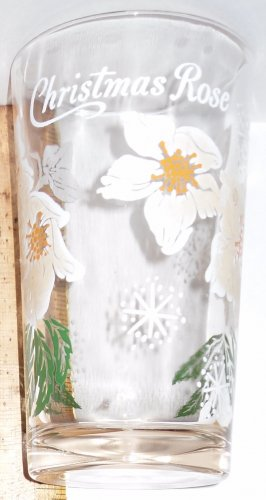 Boscul Peanut Butter Glass Christmas Rose Flower