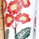 Boscul Peanut Butter Glass Red Primrose Flower