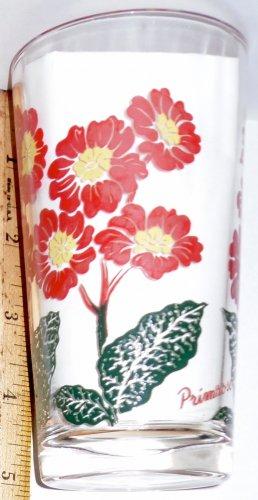 Boscul Peanut Butter Glass Red Primrose Flower