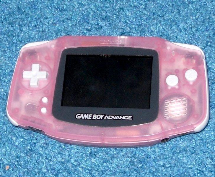Nintendo Game Boy Advance System, Games, Case, Light