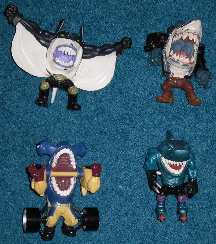 SOLD-4 Street Sharks Lot, Ripster, Mantaman, Turbo Jab, Blades