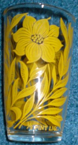 Sour Cream Glass Jar Hazel Atlas Flowers