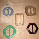 5 belt buckles Plastic Bakelite Czech Ducay