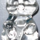 Signed Fenton Bear Figurine Crystal Paperweight
