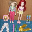 2 &quot;What&#39;s Her Face&quot; Dolls&quot; Lot, Wigs, Clothes, Mattel 2000