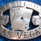 Las Vegas Brass Belt Buckle Black Jack