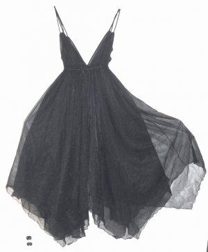 Vintage Intime' California Black Lingerie Negligee M
