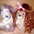 2 Sweetie Pups Dogs Figures Hasbro 1989