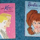 2 Barbie & Ken Fashion Booklets 1961 1962 Japan Mattel