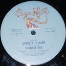 "Spoonie Gee, Spoonie is Back, 12"" Record 1981 Sugar Hill SH-562"