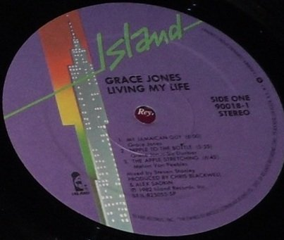Grace Jones Living My Life, LP Island Records 7 90018-1