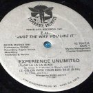 "E.U. Experience Unlimited, Just The Way You Like It, 1981 12"" Record IC 7007"