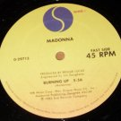 """Madonna, Burning Up Physical Attraction 12"""" Record, Sire 1983"""