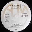 "E. G. Daily Say It, Say It 12"" Record, A&M 1986"