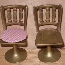 Doll House Brass Chairs Miniature Set of 4