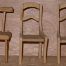 Doll House 3 wood chairs Miniature