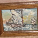 Doll House Sail Boat Painting Framed Impressionism