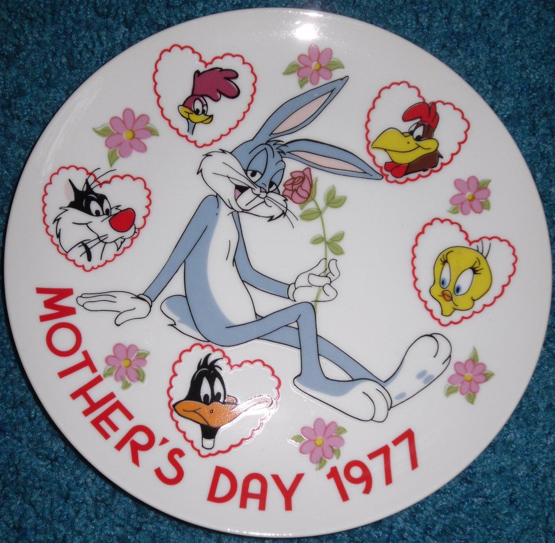 Looney Tunes Plate Bugs Bunny Road Runner Tweety