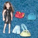 Polly Pocket Dolls-Sparkle Hair-Clothes-Mattel