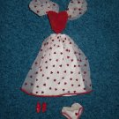 Barbie Doll Valentine Gown Set with shoes.