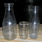 3 Milk Dairy Bottles Abbotts Suburban Howard
