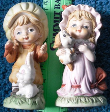 Children Ceramic Figurines by Royal Crown