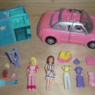 Polly Pocket Lila Dolls Stretch Limo Clothes Lot