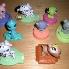 8 Littlest Pet Shop McDonalds Figures Hasbro