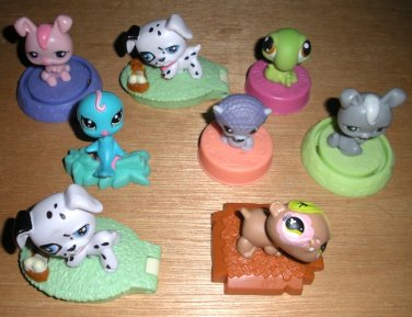 8 Littlest Pet Shop McDonald's Figures Hasbro